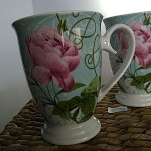 Set of two Flower Tea Cups by Anchoragie 8oz